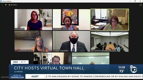 La Mesa hosts virtual town hall, police chief announces retirement