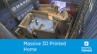 This massive 3D printer helped create an entire two-story house