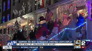 Hampden ranked #3 on most outrageous Christmas light displays list