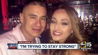 Salt River PD Officer speaks for first time after his wife was shot in Las Vegas shooting - Video