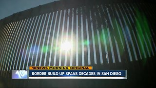 Border fence build-up in San Diego spans decades
