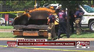Worker dead after accident in south Tulsa - Video