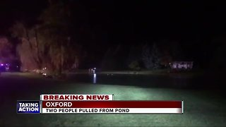 Police rescue man after vehicle crashes into pond in Oxford