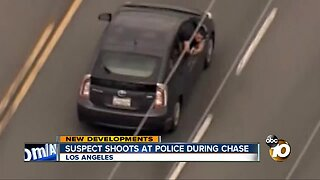 Suspect fires at police during wild LA police chase