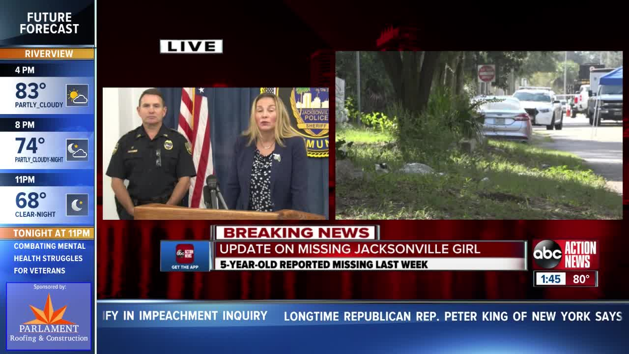 AMBER ALERT: JSO gives update on missing 5-year-old
