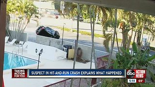 Hit-and-run suspect says he is remorseful after crash sends teen to hospital