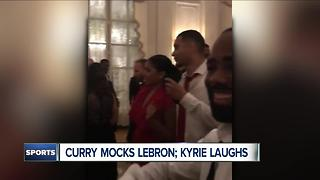 Curry Mocks Lebron, Kyrie Laughs - Video