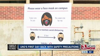 UNO's First Day Back With Safety Precautions