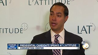 Presidential candidate speaks at L'Attitude