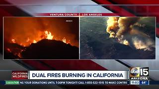 Several major fires burning in California - Video