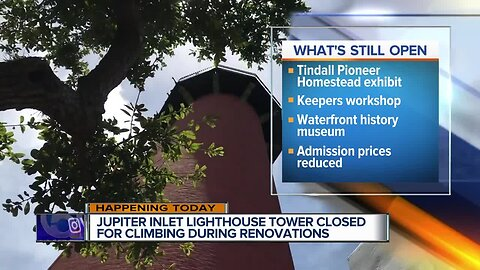 Jupiter Inlet Lighthouse closed to tours, climbing until Nov. 15