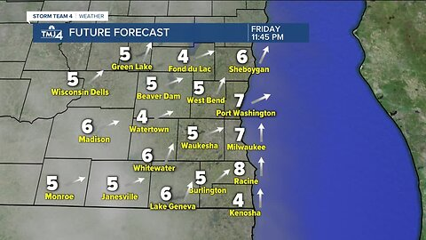 Expect a windy, chilly Thursday