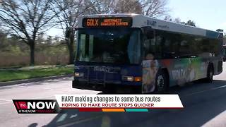 HART makes changes to some bus routes to reduce wait times and provide faster connections - Video