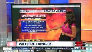 Red Flag Warning for California - Video