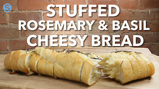 Stuffed rosemary and garlic cheesy bread - Video
