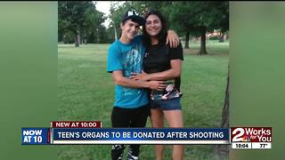 Tulsa teen on life support is about to give others life