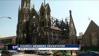 Members of Trinity Church devastated after fire - Video