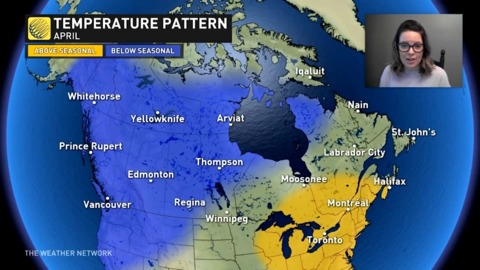 APRIL OUTLOOK: Some great news for Eastern Canada this April, find out just how cold we could get in the west