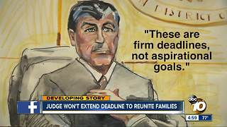 Judge won't extend deadline to reunite migrant families - Video