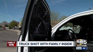 Valley dad's truck sprayed with bullets
