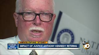 Impact of Justice Anthony Kennedy retiring - Video