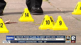 Mayor Pugh plans to meet with Gov. Hogan to discuss rising homicide rate - Video