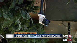 Stores taking precautions to stop shoplifters