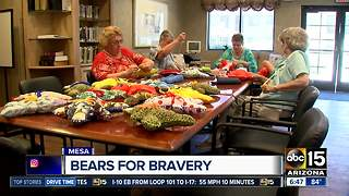 Group stitches stuffed animals for Mesa police to hand out to kids - Video