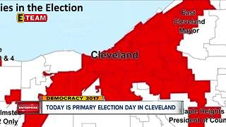 Primary Election Day underway in Cleveland Mayor's race - Video