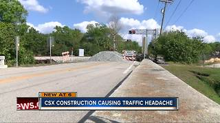 CSX Construction causing traffic headache in Polk County - Video