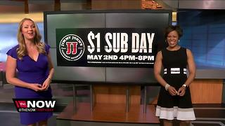 Get a $1 sub from Jimmy John's on Tuesday - Video