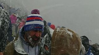 Lake-Effect Snow Creates Whiteout Conditions During Buffalo Bills Game - Video