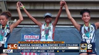 Student Athlete of the Week Maris Gaines from Baltimore City College