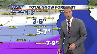 Most snow ending this morning - Video