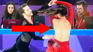 Ice Dancer Yura Min Suffers MAJOR Wardrobe Malfunction at the 2018 Winter Olympics - Video