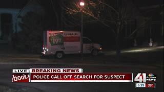 Police search for suspect in truck theft, police ramming