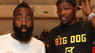 """Kevin Durant Is Sick Of Trade Questions About James Harden, Says """"I Don't Think About James"""""""