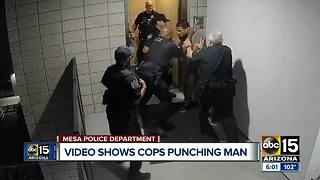 Video shows officers punching suspect in Mesa, four officers now on leave