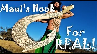 Man Recreates Maui's Hook From Disney's 'Moana' - Video