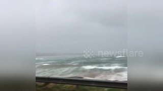 Huge waves brought by Storm Caroline batter Orkney coast - Video