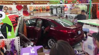 RAW VIDEO: Car crashes into Chula Vista Dollar Tree store - Video