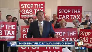 Republican advocates get enough signatures to put gas tax repeal on ballot - Video