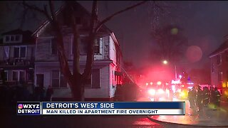 Man killed in apartment fire on Detroit's west side