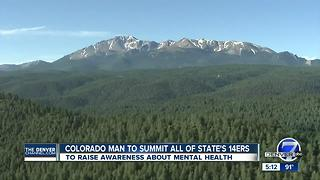 Man hiking all 14ers in one summer for mental health awareness - Video