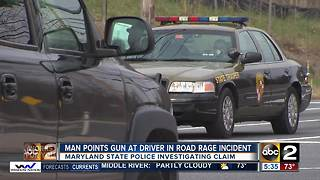Man points gun at driver during road rage incident in Annapolis - Video