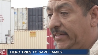 Neighbor tries to save family in North Las Vegas fire - Video