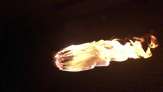 Students make a 'Death Star' fireball using matches - Video
