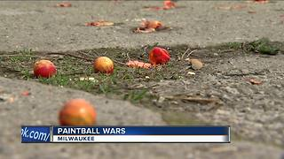Police investigate Milwaukee paintball wars - Video