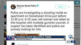 Woman, 52, shot multiple times inside Boynton Beach apartment complex