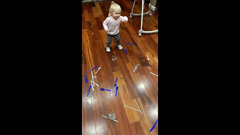 Huge Mess Leads To Toddler Dance Party